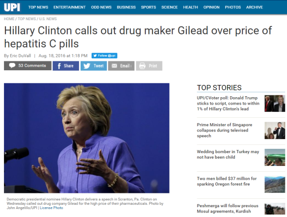 Hillary Clinton Gilead Sciences