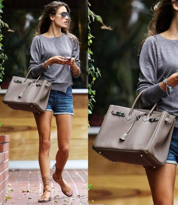 Hermès Birkin Tasche Alessandra Ambrosio
